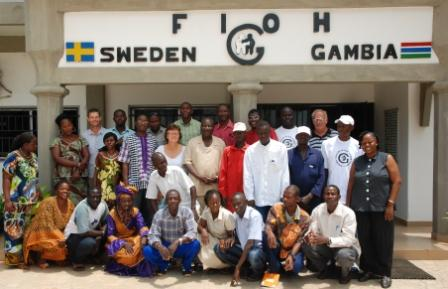 FIOH staff outside the office in Kotu South, Serrekunda